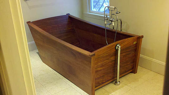 European Style DeepSealed™ African Mahogany Tub