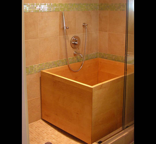 japanese ofuro tub that fits in shower