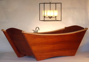 custom wooden shower enclosures, screens and more