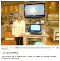 martha stewart show feature on bath in wood wooden bathtubs