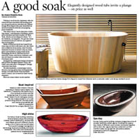 chicago tribune feature on bath in wood wooden bathtubs